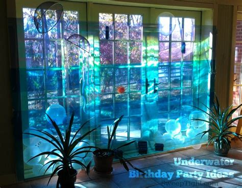 diy underwater birthday party themes  magical mess