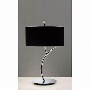 Lampe A Poser Noire : lampe a poser eve 2l noire chrome mantra achat vente lampe a poser eve 2l noire chrome ~ Teatrodelosmanantiales.com Idées de Décoration