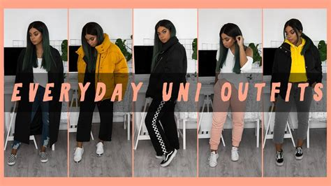 What I Actually Wear to Uni | Everyday Outfits - YouTube