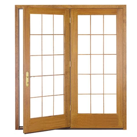 pella proline wood in swing hinged patio doors pella