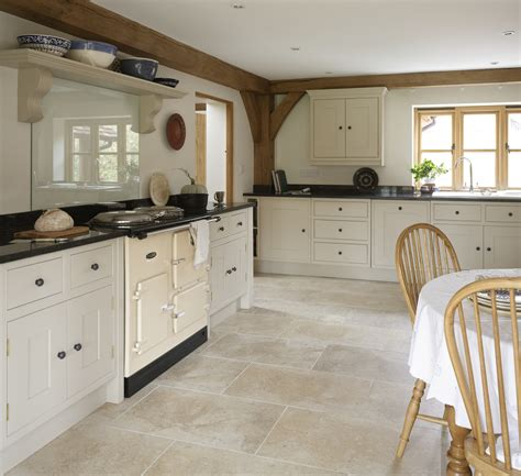 kitchen flooring ideas uk painted kitchen with limestone floor http
