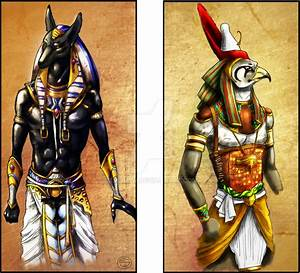 Anubis and Horus by Emilie-W on DeviantArt