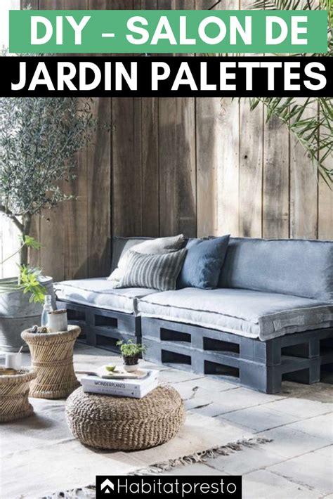salon de jardin en palettes  idees deco originales
