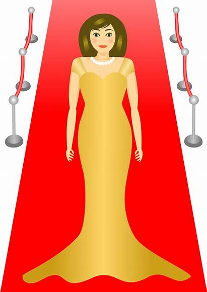 Clipart Carpet Clip Glamour Woman Celebrity Actress
