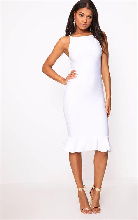 white dresses white dress white dresses prettylittlething