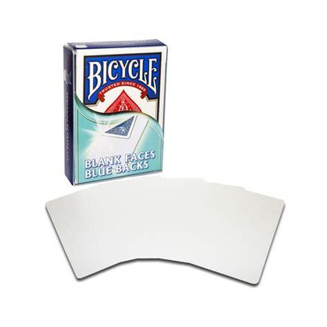 Carte Blanche Bleu by Bicycle 52 Cartes Faces Blanches Dos Bleus