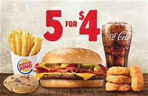 "Burger King Debuts New ""5 for $4"" Value Deal 