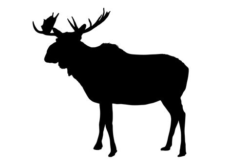 Moose Silhouette Vector Free Clipart Best