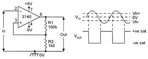 Schmitt Trigger Electronic Schematics