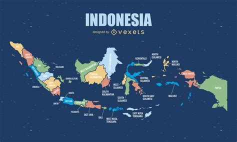 complete indonesia map vector