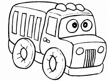 Coloring Pages Truck Printable Preschool Coloringpages1001 Transportation