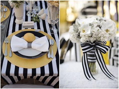 modern yellow and black and white stripes wedding ideas wedding inspiration yellow white