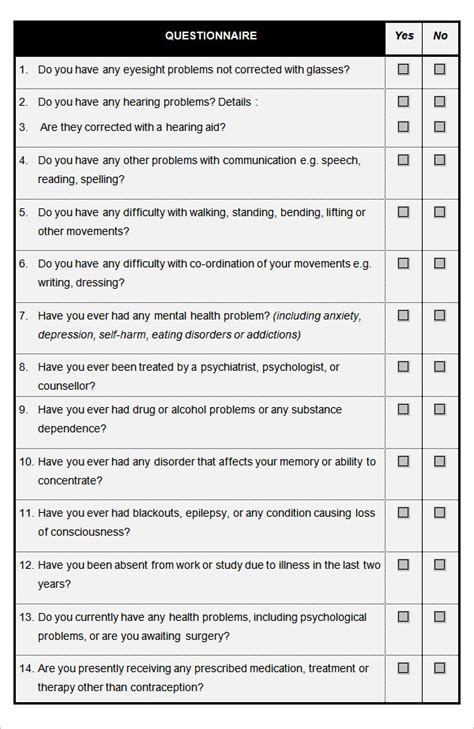 Pin Health-questionnaire on Pinterest