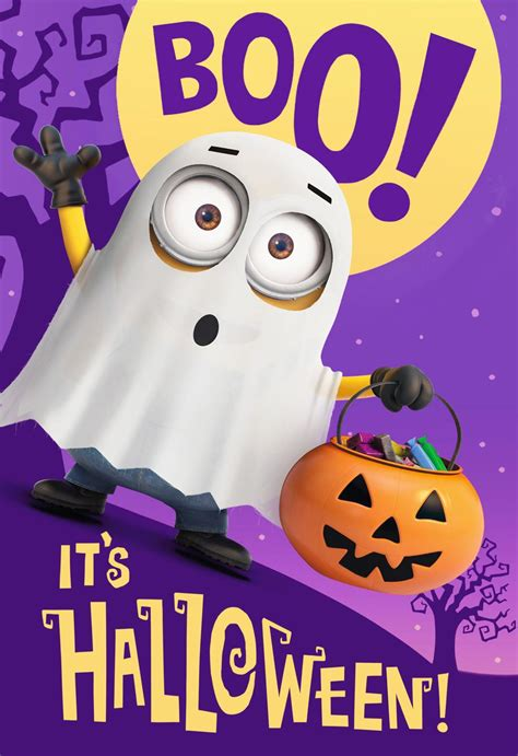 despicable  scared silly minions pop  halloween card