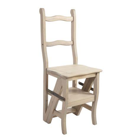 chaise en chene chaise escabeau en chêne