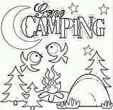 Camping Coloring Pages Gone sketch template