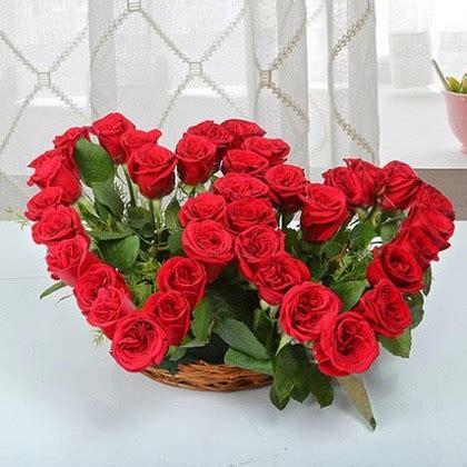 buy twin heart shape flower bouquet    day