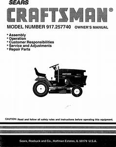 Craftsman 917257740 User Manual Tractor Manuals And Guides