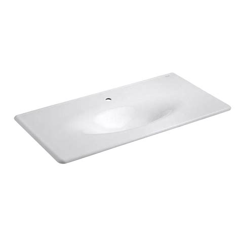home depot bathroom sink tops kohler 22 25 in iron impressions vanity top bathroom sink