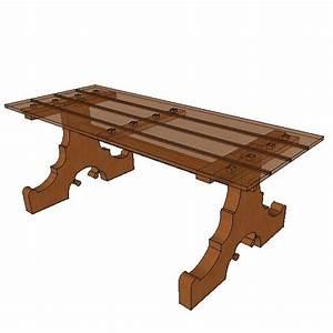 Plateau Pour Table : pied de table pour plateau 02 ~ Teatrodelosmanantiales.com Idées de Décoration