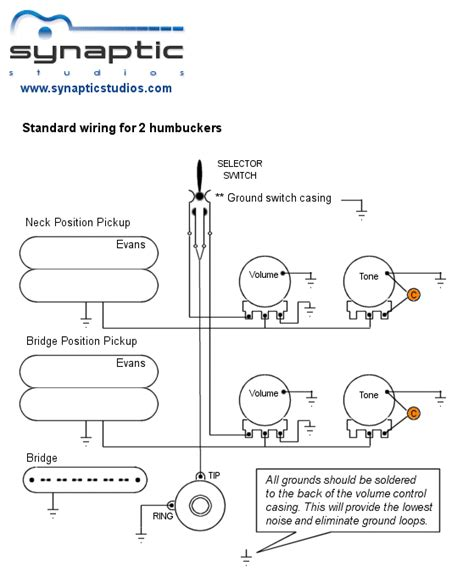 wiring diagram two humbuckers standard 2 humbuckers wiring diagram