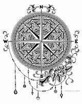 Drawing Compass Zendoodle Mandala Getdrawings sketch template
