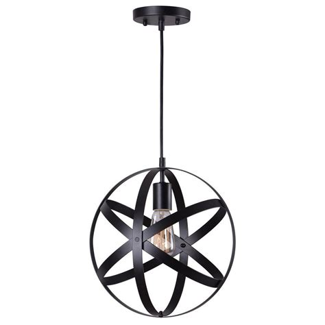 home decorators collection 1 light black orb mini pendant