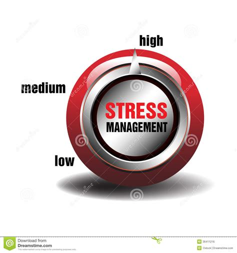 stress management button royalty  stock image image