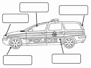 Police Car To Label And Colour By Claireh1039