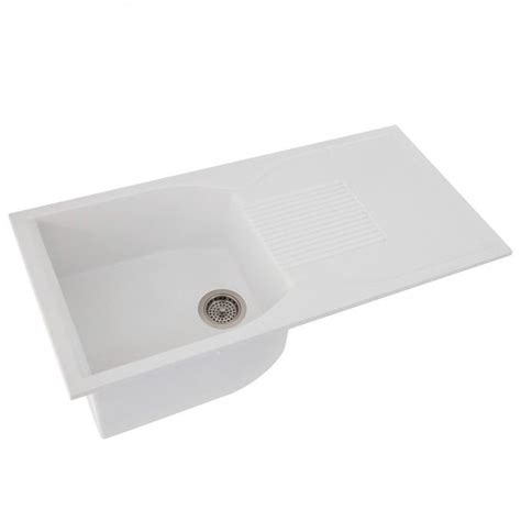 white kitchen sink with drainboard 40 quot ellerbee made granite drop in sink with drainboard 1826
