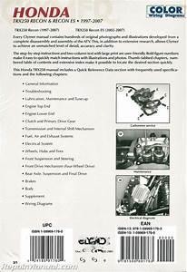 2001 Honda Recon Trx 250 Wiring Diagram