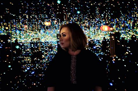 captivated  adele   infinity mirror room