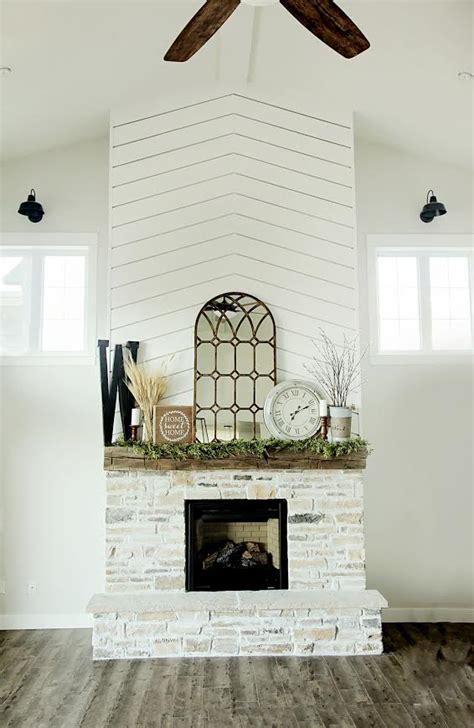 stylish planking fireplace combinations  love
