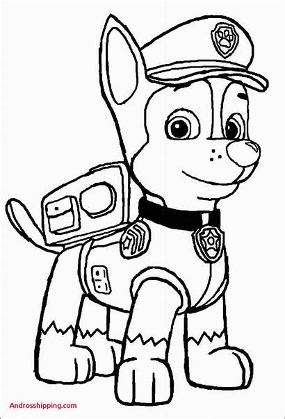 Paw Patrol Chase Coloring Ryder Printable Sheets