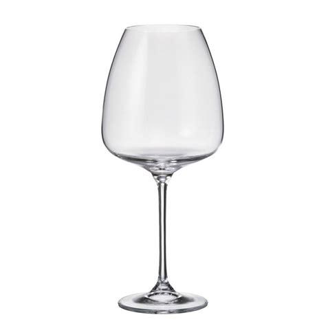 bicchieri cristallo di boemia prezzi set 6 bicchieri rosso alizee in cristallo bohemia