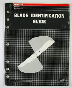 1996 Honda Blade Identification Guide Lawnmower Riding