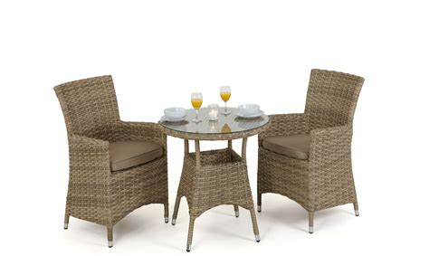 antilles bistro table 2 chairs rattan garden