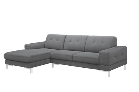 chaise casa divani casa forli modern grey fabric sectional sofa w