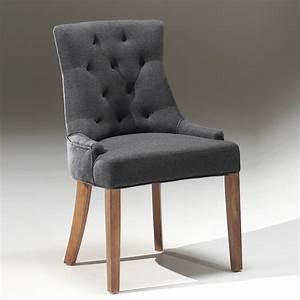 Chaise Capitonnée Taupe : chaise capitonn e couleur taupe sable ou gris tissu nessy ~ Teatrodelosmanantiales.com Idées de Décoration