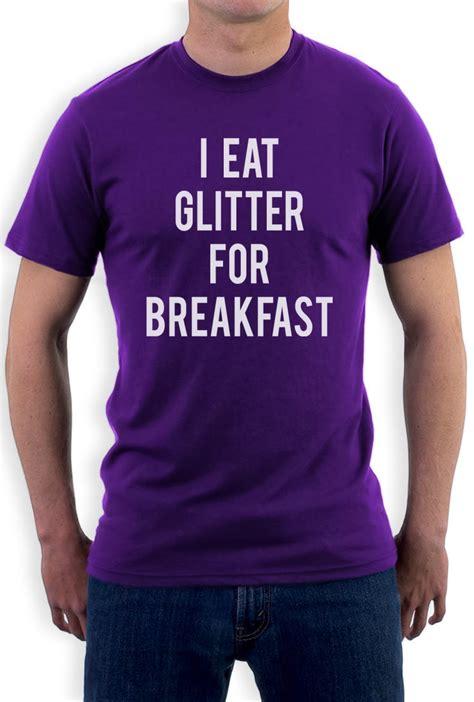 Funny Meme T Shirts - i eat glitter for breakfast t shirt funny meme hipster style unicorn tee top