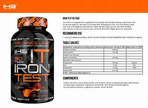 Iron Test 90 Tabl Testosterone Booster Bodybuilding Muscle Mass Growth Anabolic 5901703240098
