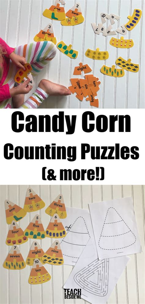 halloween math candy corn counting puzzles  images
