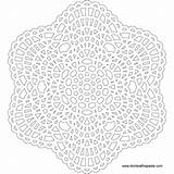 Mandala Crochet Lace Pattern Coloring Pages Mandalas Template Transparent Flower Patterns Printable Printables Inspired Print Kleurplaten Doily Sheets Crafts Redux sketch template