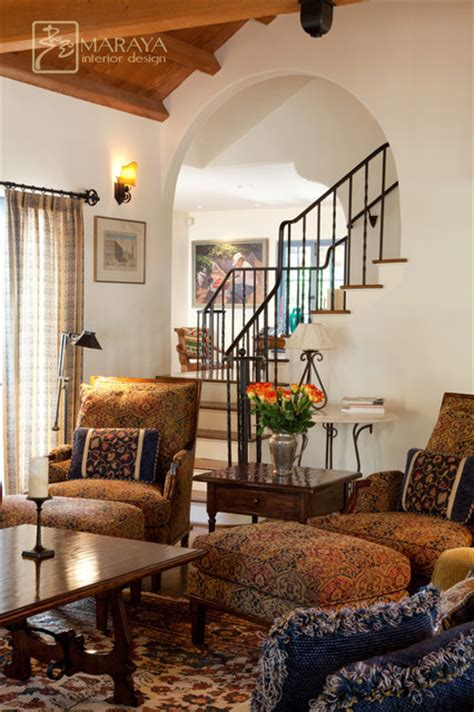 Houzz Living Room Chairs by Old California Mission Revival Mediterranean Living