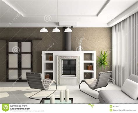 bedroom decor decoration deco and 3d render modern interior of living room stock photos