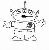 Alien Toy Story Coloring Pages Colouring Disney Aliens Drawing Printable Tattoo Books Space Template Sheets Party Google Toys Easy Drawings sketch template