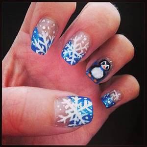 Cute winter nail design :) | Nail design | Pinterest