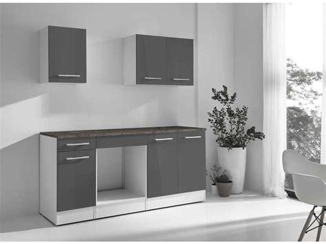cuisine a emporter cuisine complète greta 2 coloris gris vente de les cuisines prêts à emporter conforama