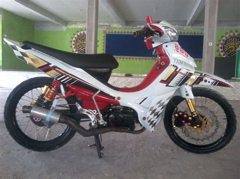 Modif Jupiter Mx Warna Merah by Foto Modifikasi Motor Jupiter Z Warna Merah Terkeren Dan