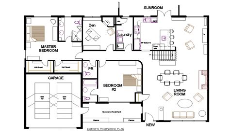 floor planner bungalow open concept floor plans small open concept